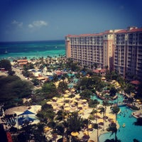 Photo taken at Marriott's Aruba Surf Club by Jason A. on 4/5/2013