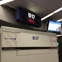 Photo taken at Gate B17 by Franco T. on 11/16/2012