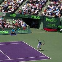 Photo taken at Crandon Tennis Center by Gustavo C. on 3/31/2013