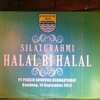 Photo taken at PT. Persib Bandung Bermartabat by ndyw s. on 9/14/2012