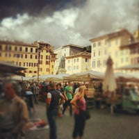 Photo taken at Campo de' Fiori by Francesco P. on 10/12/2012