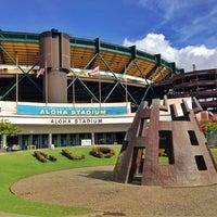 Photo taken at Aloha Stadium by Brad Z. on 2/16/2013