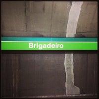 Photo taken at Estação Brigadeiro (Metrô) by Sergio A. on 3/27/2013