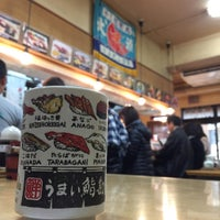 Photo taken at うまい鮨勘 築地市場店 by Wei Meng S. on 11/30/2015