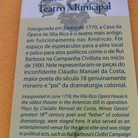 Photo taken at Casa da Ópera (Teatro Municipal) by Marcus C. on 10/24/2012