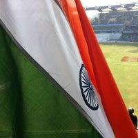 Photo taken at Wankhede Stadium by Vishal P. on 11/25/2012