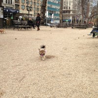 Photo taken at Union Square Dog Run by A D. on 2/26/2013