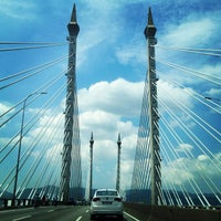 Photo taken at Penang Bridge by Lady Fafay on 2/11/2013