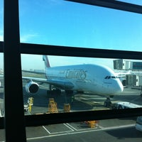 Photo taken at Emirates Business Class Lounge by Benjamin M. on 12/18/2012