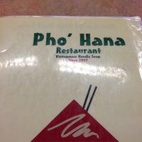 Photo taken at Pho Hana by Tanya L. on 10/29/2012