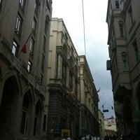 Photo taken at Bankalar Caddesi by Emre B. on 3/23/2013