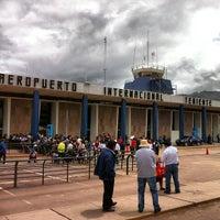 Photo taken at Aeropuerto Internacional Alejandro Velasco Astete (CUZ) by Juan V. on 2/6/2013