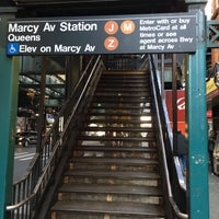 Photo taken at MTA Subway - Marcy Ave (J/M/Z) by Dennis F. on 4/27/2016