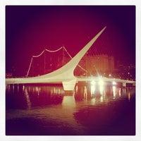 Photo taken at Puente de la Mujer by Bruno P. on 4/10/2013