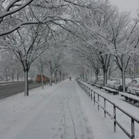 Photo taken at Benches On Ocean Parkway by Jason J. on 2/5/2014