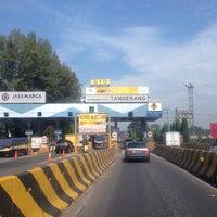 Photo taken at Gerbang Tol Tangerang by Lluvia A. on 3/28/2014