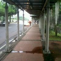 Photo taken at Halte Bus Dukuh Atas by okkylh n. on 5/6/2012