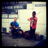 Photo taken at Seomyeon Stn. by Yong-Hwa K. on 4/21/2012