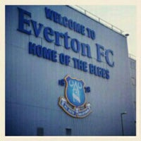 Photo taken at Goodison Park by Paddy H. on 5/13/2012