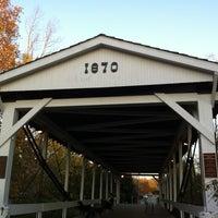 Photo taken at Germantown Covered Bridge by Deborah L. on 10/21/2012