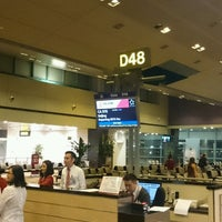 Photo taken at Gate D48 by Issei I. on 9/25/2016