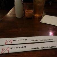 Photo taken at Sake House Miro by Mae F. on 5/20/2013