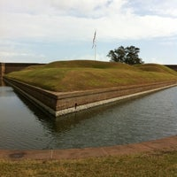 Photo taken at Fort Pulaski by Darcie B. on 11/12/2012