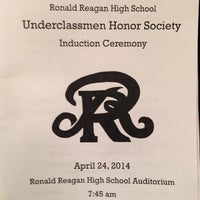 Photo taken at Ronald Reagan High School by Mark R. on 4/24/2014