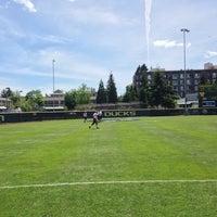 Photo taken at Howe Field by Garrett W. on 5/25/2014