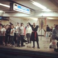 Photo taken at Metro Zócalo by Casandra A. on 6/15/2013