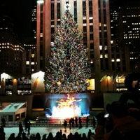 Photo taken at Rockefeller Center Christmas Tree by Gurjeet S. on 12/2/2012