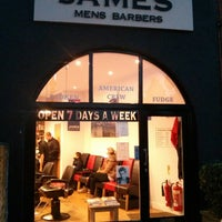 Photo taken at James Mens Barber by Eric R. on 11/4/2013
