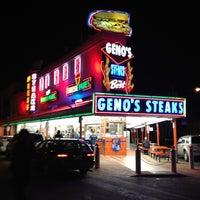 Photo taken at Geno's Steaks by Jen O. on 3/12/2012