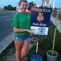 Photo taken at Megabus Stop by Krystal S. on 5/30/2013