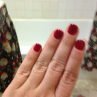 Photo taken at Eve's Nails Astoria by Kim C. on 1/19/2013