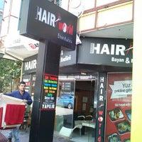 Photo taken at Deniz Hair World by Ahmet Hilmi A. on 5/10/2014