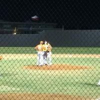 Photo taken at Richardson High School Baseball Field by Kirsten O. on 4/16/2014