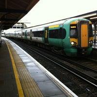 Photo taken at Fratton Railway Station (FTN) by Matthew T. on 12/28/2012