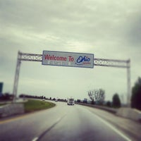 Photo taken at Indiana / Ohio State Line by Вадим Т. on 10/1/2012