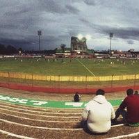 Photo taken at Estádio Vermelhão da Serra by Cristina T. on 3/30/2015