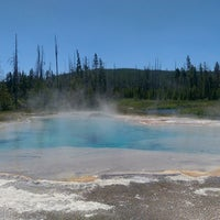 Photo taken at Black Sand Basin by Jared P. on 6/26/2015