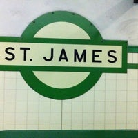 Photo taken at St James Station by Tracey N. on 10/5/2013