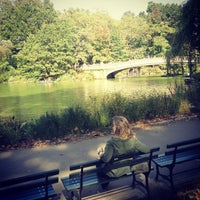 Photo taken at Central Park Boathouse by Gabriela B. on 10/15/2012