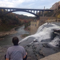 Photo taken at Lower Falls Park by Jean C. on 10/14/2014