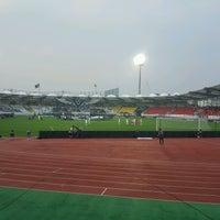 Photo taken at Tancheon Sports Complex Stadium by Mir Y. on 9/10/2016