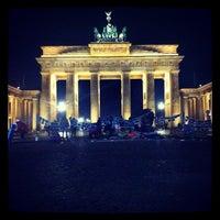 Photo taken at Pariser Platz by Lennart P. on 11/27/2012