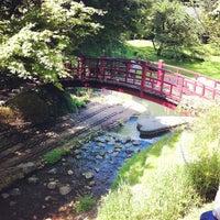 Photo taken at Jardins Albert Kahn by Karl S. on 5/12/2012