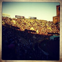 Photo taken at Stadio Renato Dall'Ara by Roberto A. on 6/23/2013