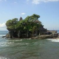 Photo taken at Tanah Lot Beach by Hamidah A. on 2/9/2013