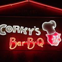 Photo taken at Corky's BBQ by David F. on 2/25/2014